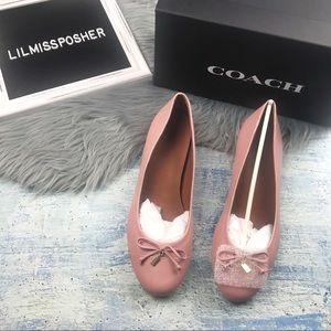 NEW COACH Women's Leather Ballet Flat Shoe Size 10